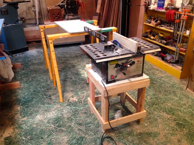 how to build a table saw stand 2